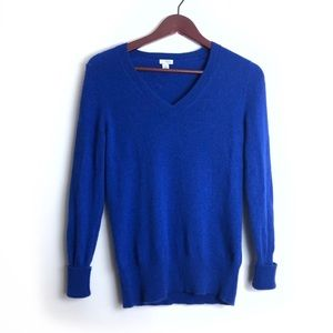 Halogen Cashmere Sweater in Dark Blue Size Medium